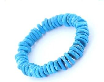 ON SALE Turquoise Heishi Bracelet