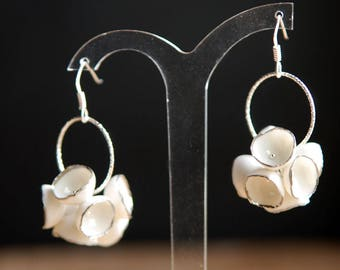 Lily porcelaine earrings