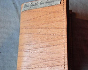 Card holder wallet 100% leather and handmade
