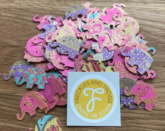 Elephant Table Confetti (One Sided) | Wedding | Birthday | Table Decorations