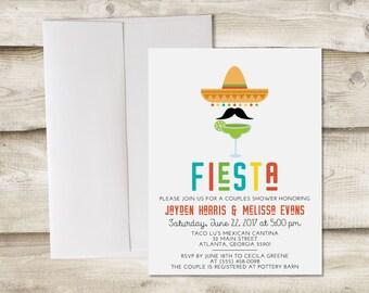 Fiesta Invitation, Fiesta Couples Shower Invitation, Couples Shower Fiesta, Fiesta Bridal Shower, Fiesta Rehearsal Dinner Invitations