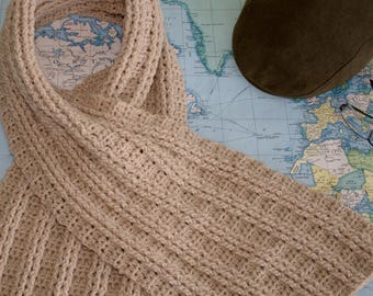 Crochet Patterns / 2 Mens Crochet Scarf Pattern / DIY Scarf / Cowl Pattern by Hidden Meadow Crochet - Sugar Maple Scarf  and Cowl P207