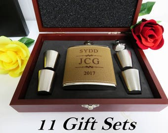 Groomsmen Gift Boxes, Will You be my Groomsman, Will You Be My Best Man, Usher Gift Set, Officiant Gift Flask Set, 11 Groomsmen Gift Box