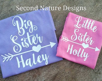 Girl's Little Sister Shirt / Lil Sis Shirt / Big Sister Shirt / Sister Shirts / Big Sis Shirt