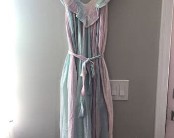 Vintage 70's zodiac brand pastel dress