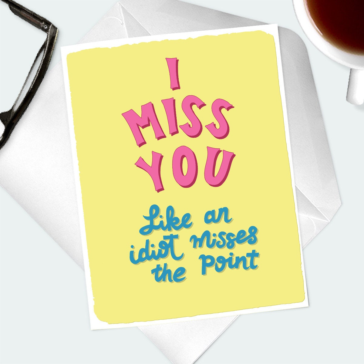 Funny I Miss You Greeting Card Silly Thinking Of You Note Card For