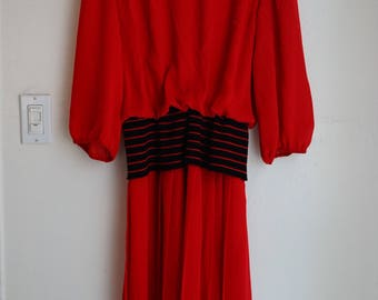 Vintage Red 80s dress s/m