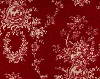Table runner (27x108) double sided, red toile,
