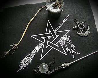 Witch Charms patch~ altar cloth ~ Wort Magic ~ WitchingVeil ~ RedSisterWychery ~ Occult ~ Pagan Goth~ Herb Witchery