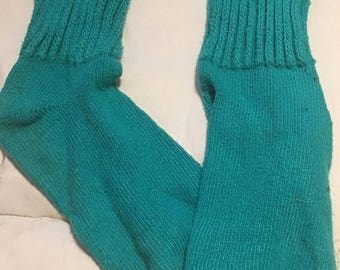 25% off customer app Teal Aqua Slouch socks