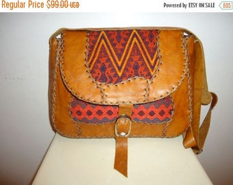 50% OFF Beautiful Vintage Tapestry and Leather Crossbody/Shoulder Bag