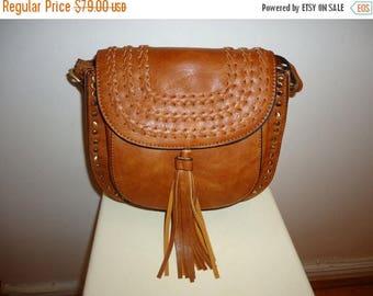 The SALE Is On SALE Beautiful Vintage Chestnut Saddle Shoulder Bag