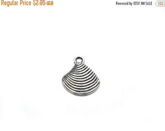 HALF PRICE 10 Silver Seashell Charms