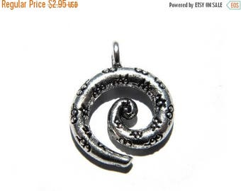 HALF PRICE 6 Silver Spiral Charms