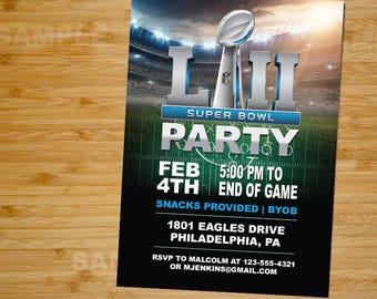 Super Bowl Party Invitation