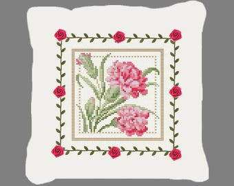 Kit to decorate a cross stitch cushion cover