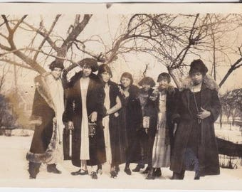 Lined Up Ladies Vintage African American photograph