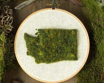 """6"""" Washington State, Moss Wall Art"""