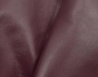 "Divine Dark Red Wine ""Signature""  Leather Cow Hide 4"" x 6"" Pre-cut 2-3 oz  flat grain DE-61630 (Sec. 8,Shelf 6,C,Box 1)"