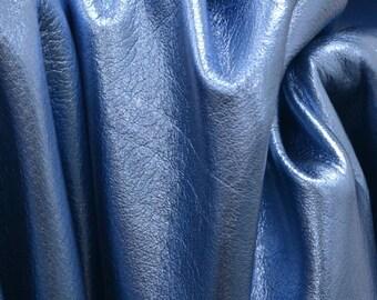 "Casino Ice Blue Metallic ""Vegas"" 24.2 Sq Ft 2 1/2-3 oz Leather Cowhide Side BR-64154 (Sec. 9,Shelf 6,A)"