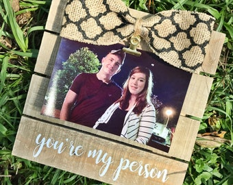 Rustic Greys Anatomy You're My Person/Pallet Picture Frame