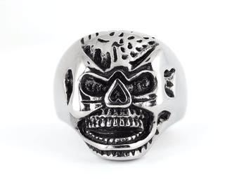 Men Biker Motorcycle Heavy Metal NEW Stainless Steel Mister Skull Ring Sz 9-13