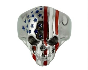 Men's Stainless Steel American Flag Patriotic HEAVY METAL JEWELRY 32 Years In The Jewelry Business