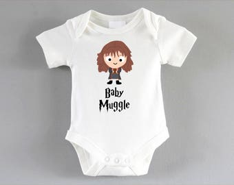 Hermione Onesie ~ Harry Potter Baby ~ Baby Muggle ~ Harry Potter Inspired ~ infant one piece ~ Harry Potter gift ~ New Parent Gift