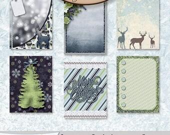 Digital Scrapbook, 3x4 Journaling and Decorative Cards: Sparkle