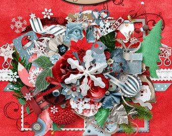 Digital Scrapbooking, Elements Pack: Christmas Cheer
