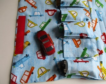 Toy Car Carrier - Cars - Roll Up Toy Carrier - Toy Car Wallet - Gift for Boy - Personalized -Toy Carrier - Fold Up Car Carrier