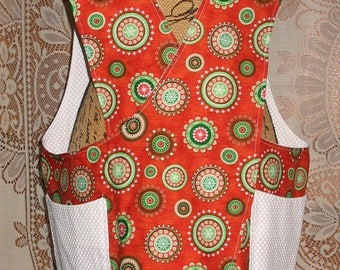 Cross Back apron - Large/XL fully lined or reversible