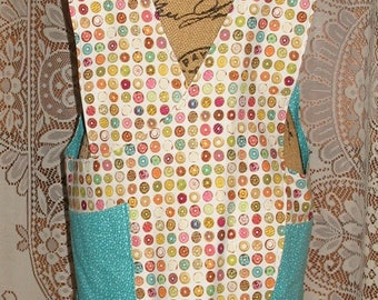 Cross Back apron - Large/XLarge fully lined or reversible