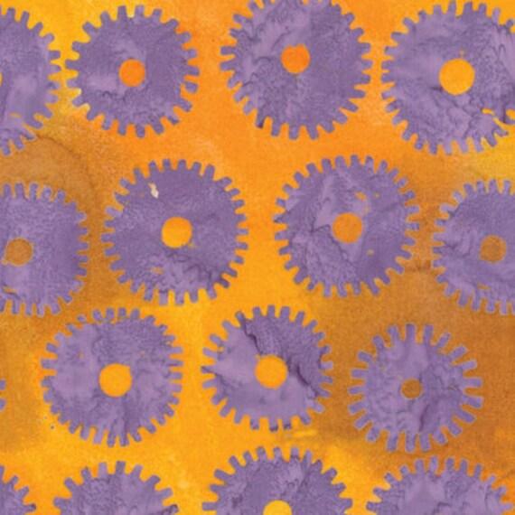SAW CIRCLES Lilac ARTISAN Batik Kaffe Fassett Sold in 1/2 yd increments