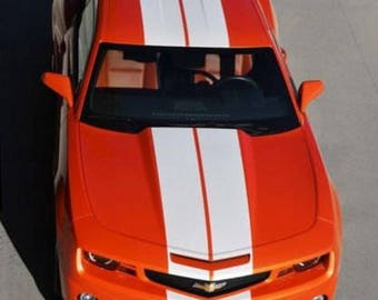 "Chevy Camaro 8"" Vinyl Rally Stripes Racing Stripe Kit - Multiple Colors Available"