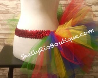 Parrot Tutu, Clown Tutu, Rainbow Tutu, Color Run Tutu, Rave Tutu