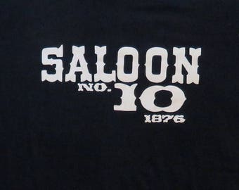 80's Vintage T Shirt Saloon No 10 Deadwood Dakota Territory Tourist Souvenir