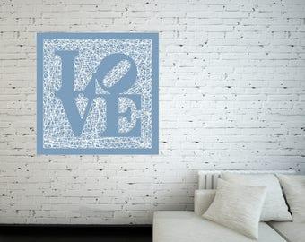 String-Art Panel Love