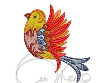 MACHINE EMBROIDERY DESIGN - Bird