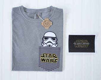Grey Storm-trooper Star Wars SHORT SLEEVE or TANKTOP comfort colors
