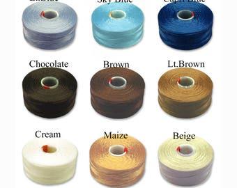 C-Lon thread AA (0.25mm), Beading thread, 75yards (68 meters), Nylon thread for seeds 15/0,