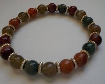 Jewelry SALE, Bracelet, Stretch Bracelet, Gift for Her, Jewelry Gift, Small Bracelet, Fall Colors, Casual Bracelet, Girls, Women Bracelet