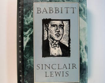 BABBITT, Sinclair Lewis - Good/Good Plus 1989 X-Library Hardcover/Dust Jacket