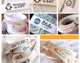 4 Yards Sew On personalized Twill Ribbon Fabric Labels · Folded or Flat label .2T