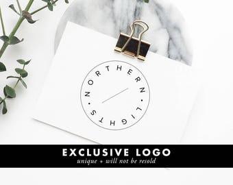 Unique One Of A Kind Premade Logo, Minimal Design, Minimalist Logo, Modern Branding Design, Business Logo Design, Blog Logo Design, OOAK