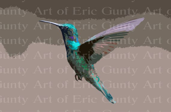 Hummingbird Birthday - Edible Cake and Cupcake Topper For Birthday's and Parties! - D22758