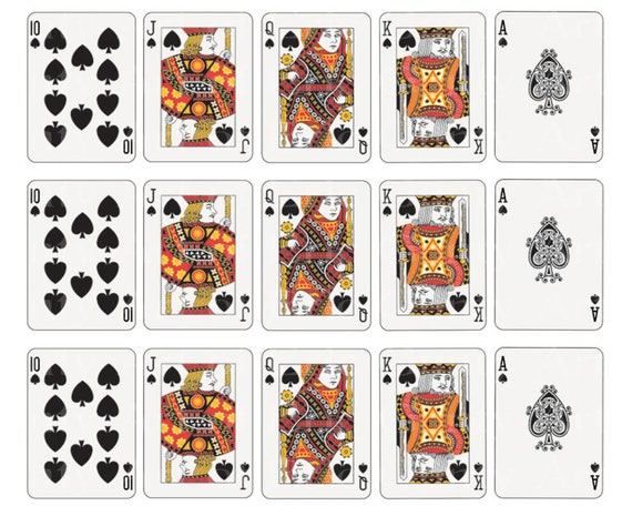 Casino Poker Cards Spades Designer Strips - Edible Cake Side Toppers- Decorate The Sides of Your Cake! - D22836