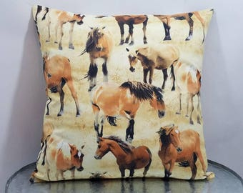 Custom made horse ranch pillow cover/sham. Multiple sizes to choose from.