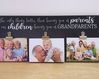Grandchildren Photo Frame, Grandparents Gift, Grandparent Picture Frame, Christmas Gift For Grandparents, Mother's Day Gift, Father's Day