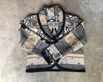 Graphic Woven Cotton Jacket